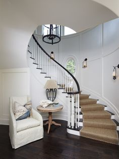 dark railing, white spindles - i like it. by The Anderson Studio of Architecture & Design