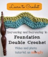 Increasing and Decreasing in Foundation Double Crochet - moogly