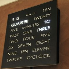 How cool is this clock?