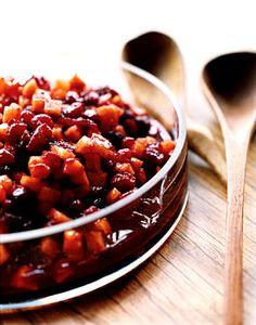 Persimmon Cranberry Sauce