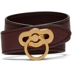 Mulberry Amberley Double Bracelet (255 CAD) ❤ liked on Polyvore featuring jewelry, bracelets, oxblood, lock jewelry, equestrian jewelry and mulberry jewellery