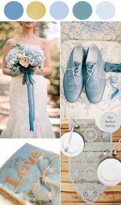 Looking for your wedding color palette? The Perfect Palette wants to help! The Perfect Palette is dedicated to helping you see the many ways you can use color to bring your wedding to life. Vintage Wedding Colors, Yellow Wedding, Summer Wedding, Dream Wedding, Gold Wedding, Tiffany Wedding, April Wedding, Camp Wedding, Wedding Colours