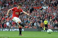 Ander Herrera netted his first goal for Manchester United from the edge of the box against QPR