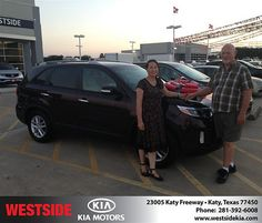 Thank you to Bill Lee on the 2014 Kia Sorento from Damon  Clayton  and everyone at Westside Kia!