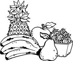 Fruit Kids Coloring Pages Collections