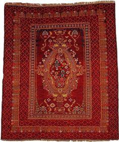"Shirvan 4'7"" x 5'9"" Circa 1900 East Caucasus Ref no. 931 {rugs, carpets, traditional, home collection, decor, warp & weft}"