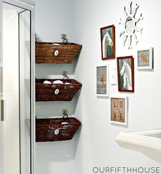 30 Creative and Practical DIY Bathroom Storage Ideas ~  ~ Every one of us very often needs just a little more space in the bathroom. We usually don't have big storage area and we don`t know where to put all our stuff. Sometimes the solution is in front of our eyes, but we don`t see it. Included are a dozen creative DIY ideas to wake up your sense for crafting.