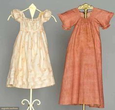 Two Infants' Calico Dresses, 1805-1820, Augusta Auctions, November 2, 2011 NYC, Lot 172