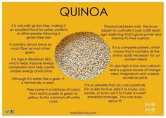 Quinoa has more protein than all other grains and the protein in quinoa contains all essential amino acids making it a complete protein. ** I love quinoa. Quinoa Health Benefits, Health And Nutrition, Health And Wellness, Nutrition Tips, Holistic Wellness, Holistic Nutrition, Protein Nutrition, Health Advice, Health Quotes