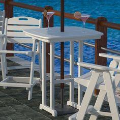 Atlantic Foldable Outdoor Wood Bar Stool Bar Stools