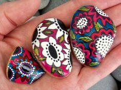 """""""Rock Garden"""" Painted Sea Stones"""