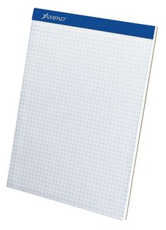 Amazon.com : Ampad Evidence Quad Dual-Pad, Quadrille Rule, Letter Size (8.5 x 11.75), White, 100 Sheets per Pad (20-210) : Graph Paper Pads : Office Products