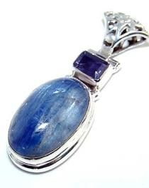 Beautiful item with kyanite, Amethyst Faceted Gemstone(s) set in pure 925 sterling silver.