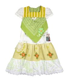 Miss Haidee | Olive party dress pure Vintage size 5 to 6 years