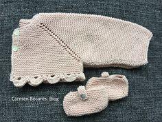 Filet Crochet, Knit Crochet, Crochet Hats, Baby Booties Knitting Pattern, Knitting Patterns, Knitting For Kids, Baby Knitting, Baby Girl Sweaters, Baby Cardigan
