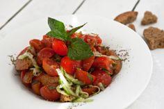 Greek Salad. Greek Salad, Caprese Salad, Bruschetta, Ethnic Recipes, Food, Meal, Essen, Hoods, Meals