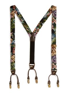 I used to have floral suspenders as a teen. Where are they now? I also had black lace ones... Many things come back in style. I want to find them. I just hope I didn't sell them ages ago.