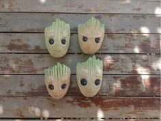 Baby Groot, Creative, Diy, Youtube, Biscuit, Gardening, Videos, Clay Pot Crafts, Cd Crafts