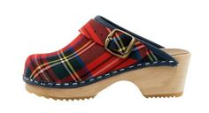 Scottish Tartan Clog - A limited edition of this classic scottish tartan. Uppers are of a fine fabric and an alder wood orthopedic foot base. Including a moveable heel strap for kids safety. Order here: http://store.capeclogs.com/ScottishTartan-2.aspx.