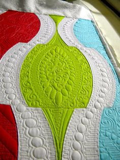 Sew Kind Of Wonderful   I love the colors and the quilting!!!