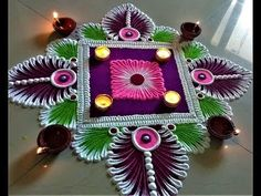41 New Ideas For Fashion Drawing Wallpaper Wallpapers Rangoli Designs Latest, Simple Rangoli Designs Images, Rangoli Designs Flower, Rangoli Patterns, Rangoli Ideas, Rangoli Designs Diwali, Diwali Rangoli, Rangoli Designs With Dots, Beautiful Rangoli Designs