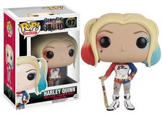 From Suicide Squad, Harley Quinn as a stylized POP vinyl from Funko!Stylized collectible stands 3 inches tall, perfect for any Suicide Squad fan! Figurine Disney, Pop Figurine, Deadshot, Pop Vinyl Figures, Héros Dc Comics, Harley Quinn Et Le Joker, Harey Quinn, Suicide Squad, Funko Pop Dolls