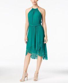 Thalia Sodi Laser Cut High-Low Hem Dress, Only at Macy's - Women's Brands - Women - Macy's