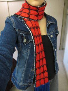 Spider-Man vs. Venom Scarf by Jillyn - free