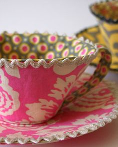 """Fabric teacup photo at Martha Stewart Living """"Your Best Handmade Creations"""""""