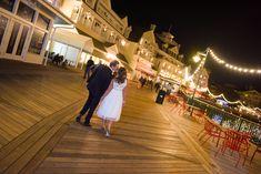 Christa & Mickey after their surprise Disney vow renewal at  BoardWalk Inn