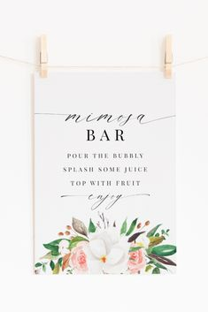 """Magnolia, rose and cotton """"Mimosa Bar"""" print 