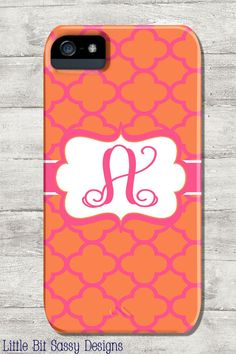 Personalized IPhone 5 and IPhone 4/4S Cell Phone by LittleBitSassy, $40.00