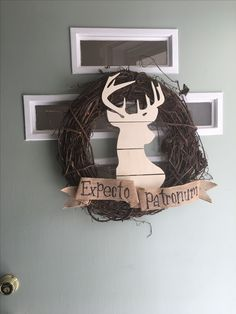 Harry Potter Wreath - DIY - Expecto Patronum