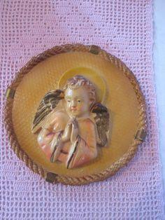 Vintage Petit ange en plâtre  /  Small plaster angel de la boutique Roselynn55 sur Etsy