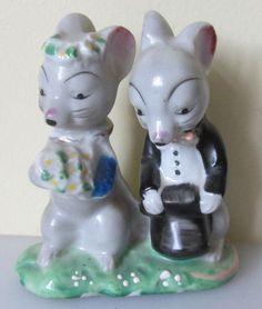 Vintage 1950's Ceramic Wedding Mice Bride & Groom Figurine PIONEER MDSE Co.  | Collectibles, Decorative Collectibles, Figurines | eBay!