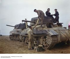 The Tank, Cruiser, Ram was a cruiser tank designed and built by Canada in the Second World War, based on the U.S. M3 Medium tank. Due to standardization on the American Sherman tank for frontline units, it was used exclusively for training purposes and was never used in combat as a gun tank. The chassis was used for several other combat roles however, such as a flamethrower tank, observation post, and armoured personnel carrier.