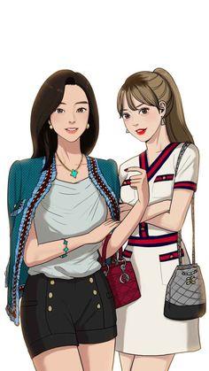 Anime Girl Cute, Beautiful Anime Girl, Anime Art Girl, Anime Love, Beauty Web, True Beauty, Alice In Wonderland Aesthetic, Pretty Drawings, Webtoon Comics