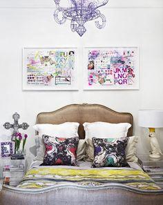Artwork by Pia Blair shot on location at Fenton & Fenton via the design files Decor, Home Bedroom, Bedroom Design, Home N Decor, Bedroom Styles, Bedroom Decor, Beautiful Bedrooms, Eclectic Bedroom, Eclectic Home