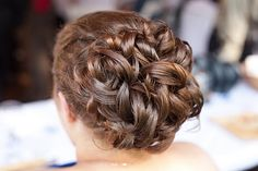 Me!  My hair for my best friend's wedding July 3rd, inspired by the other pins on my hair inspiration board.  Printed some out & showed the stylist, and I love, love, love the result!  #wedding #hair #updos #bridesmaid #bridal #bride