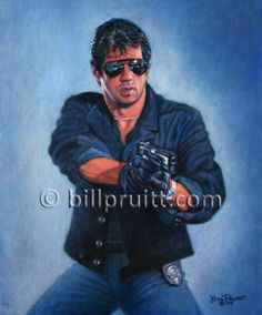 Artículos similares a Sylvester Stallone Rambo 3 art print signed and dated Bill Pruitt en Etsy Stallone Cobra, Stallone Rocky, Movie Place, I Movie, Movie Cars, Rocky Balboa, Action Film, Action Movies, King Kong
