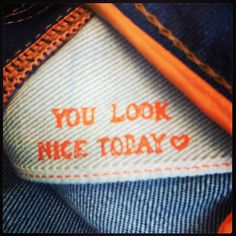 We spotted this lovely little message inside our new #HugoBoss #jeans #youlooknicetoday