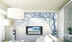 King Tree Views Wall Paper Wall Print Decal Wall Deco Indoor wall Mural Home
