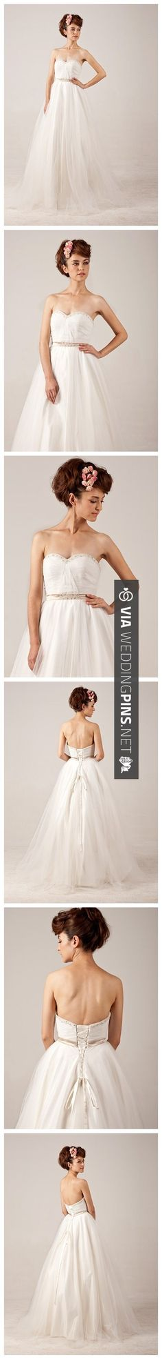 Nice! - Lace-up Ball Grown Beading Strapless Tulle Wedding Dress. | CHECK OUT MORE IDEAS AT WEDDINGPINS.NET | #weddings #weddingplanning #coolideas #events #forweddings #weddingplaces #romance #beauty #planners #weddingdestinations #travel #romanticplaces #eventplanners #weddingdress #weddingcake #brides #grooms #weddinginvitations