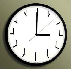 Clever Self Referential Clock