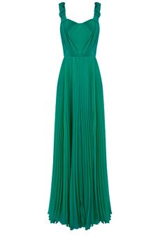 VERTICAL LINE: This stunning teal maxi dress is a fabulous example of vertical lines. This dress will emphasize your height and length. It's very formal and feminine. The beautiful teal color would be gorgeous with any skin color.