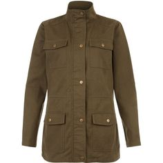 New Look Teens Khaki Lightweight Utility Jacket ($20) ❤ liked on Polyvore featuring outerwear, jackets, khaki, lightweight jackets, brown jacket, khaki utility jacket, brown utility jacket and light weight jacket
