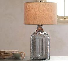 Alana Luster Glass Jug Table Lamp Base - Indigo #potterybarn