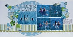Open Water using large circle over 2 pages.