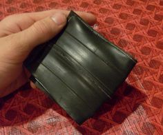 In this instrucable I will show you how to make a wallet out of a bicycle inner tube. I based the design off a duct tape wallet I made a while ago. Hope this works for you! you'll need: -Bicycle inner tube ( you only need a two foot strip) -sharp scissors -sewing machine