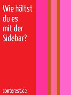 Die Sidebar, des Bloggers liebster Spielplatz? — Sven Lennartz  [Archiv]
